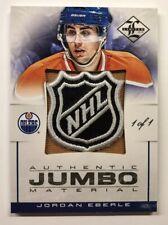 2012-13 Panini Limited Hockey Jordan Eberle Jumbo Materials NHL Shield 1 of 1
