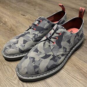 RARE Dr Martens X Staple Pigeon Gray Camo 1461 Size US13 UK12 No Shoebox