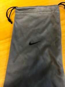 Nike Eyeglass Sunglass Microfiber Soft Drawstring Cloth Bag Pouch Case Gray