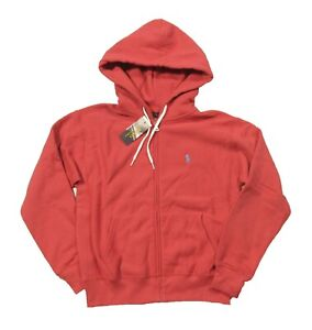 Polo Ralph Lauren Women's Nantucket Red Fleece Lined Full Zip Hoodie