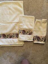 Croscillcassis Chambord Amethyst Purple Rose 3 Pc Towel Set