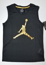 Nike Air Jordan Girls Mesh Jumpman Tank Top Tee T-Shirt Size Large