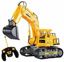 Top Race 7 Channel Full Functional Rc Excavator, Battery Powered Electric Rc Rem