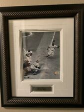 "17.5"" x 21.5"" Framed Photo Jackie Robinson Stealing Home at Ebbets Field in 1952"