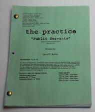 David E. Kelley / The Practice, 2001 TV Show Script, Public Servants