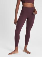 ATHLETA Elation 7/8 Tight Leggings M MEDIUM Antique Burgundy | SOFT Yoga Workout