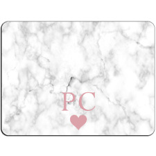Mousepad EasyGrip Non Slip Mouse Pad PERSONALISED Initial White Marble Y01503