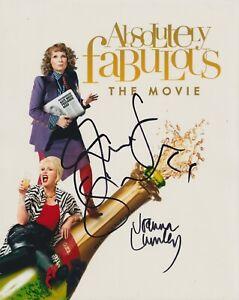 Joanna Lumley & Jennifer Saunders HAND SIGNED 8x10 Photo Absolutely Fabulous