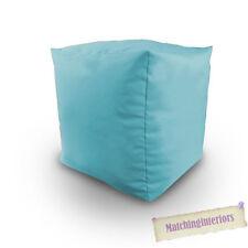 Aqua Rempli De Coton Pouf Poire Cube Echelle Tabouret Pouf Siège De Repos