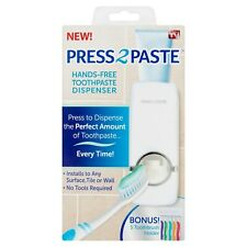 As Seen on TV Press 2 Paste Hands-Free ToothPaste Dispenser Tooth Brush Holder