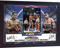 ANTHONY JOSHUA KLITSCHKO signed autographed Boxing Wembley London Framed