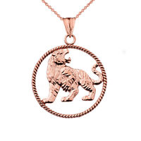 Solid 10k White Gold Egyptian Alchemy Ouroboros Snake Circle Pendant Necklace