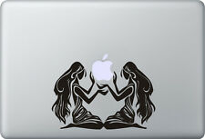 Apple MacBook Air Pro + gemelo + Pegatina Sticker + decal Twin gemello Double
