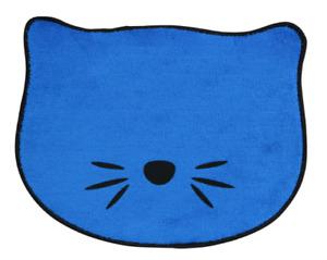 "Blue Cat Feeding Mat Kitten Pet Bowl Placemat 13.5""x10"" NON-SLIP FREE SHIPPING"