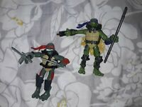 Teenage mutant ninja turtles Playmates 2007 Figures bundle joblot x2 with weapon