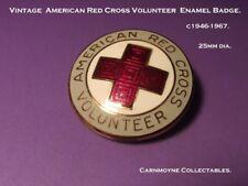 Vintage American Red Cross Volunteer Badge. 25mm. c 1946.-1967.AH9899.