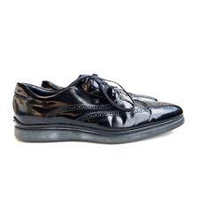 Tod's Wingtip Mens 12 M Black Patent Leather Oxford Brogue Cap Toe Dress Shoes