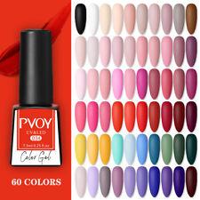 Pvoy UV Gel Nail Polish Nude Rojo Negro Serie Soak Off Nail Art barniz gel Hazlo tú mismo