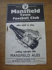17/11/1956 Mansfield Town v Workington  (Creased, Worn, Rusty Staple/Mark, Tiny