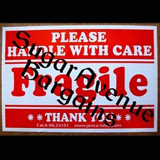 50 FRAGILE STICKERS 2x3 Handle with Care Labels ML23101