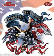 American Heritage Sticker 5.75'' x 6'' die-cut sticker. Weather-resistant