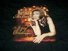 MARTINA McBRIDE - JOY OF CHRISTMAS TOUR 2006 CONCERT T-SHIRT XL BLACK NEW