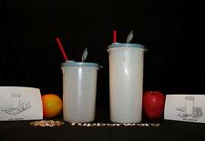 Tupperware WHITE Handolier Go Cup Pitchers ~BLUE ~36oz Mega Tumbler~50oz Super