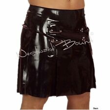 R0803 Latex Rubber KILT SKIRT MENS Fetish Clothing SECONDS RRP £101.85 - £117.13