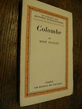 Colombe / René Jouglet /  Le coffret des histoires extraordinaires / 1928
