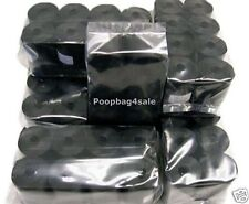 780 PET DOG WASTE PICK UP POOP BAGS WITH THICKNESS 13 MICRONS BLACK REFILLS