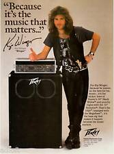 "1989 Kip Winger of ""Winger"" Photo Peavey Amps print ad"