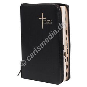 DIE BIBEL: F.C.Thompson Studienbibel - LUTHER21 - Lederfaser schwarz (211) °CM°