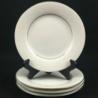 "Set of 4 VTG Bread Plates 6 3/8"" Noritake Whitehall Floral 6115 Platinum Japan"