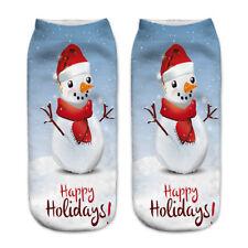 Hot 3D Printed Christmas Women Ladies Casual Socks Unisex Low Cut Ankle Socks