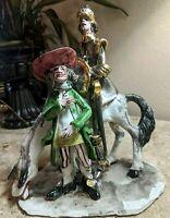 Rare Bassano of Italy Signed 10inch Figurine of Don Quixote and Sancho Panza