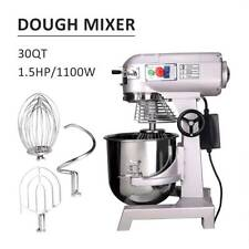 30L Commercial Food Dough Mixer Planetary 1100W Stand Cake Bread Beater Whip