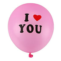"10/20/50/100Pcs 12"" I LOVE YOU Pink Pearl Latex Balloons Party Wedding Decor"