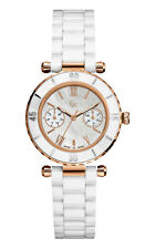 Guess GC 42004L1 Diver Chic Women's Watch Rose Gold Stainless Steel Casing White