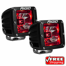 Rigid Radiance 20202 Pod LED Lights PAIR - RED Illuminated Background Light