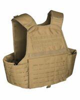 MOLLE Trägerweste Laser Cut Coyote Carrier Vest Plattenträger Kampfmittelweste