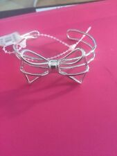 $125 Ted Baker Silver Tone Large Bow Bracelet A278