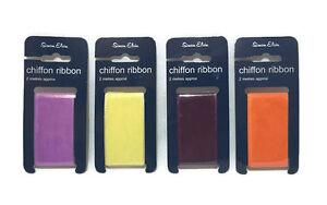 Wide Chiffon Ribbon, 2m long, 38mm wide Simon Elvin Craft