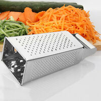 Stainless Steel 4-Sided Box Food Grater Vegetable Cheese Slicer Shredder Kitchen