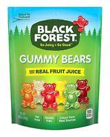 (28.8oz) Black Forest Soft Chewy Gummy Bears Candy Juicy,w/ Fruit Juice,Fat Free