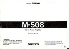 Onkyo M-508 Amplifier Owners Manual