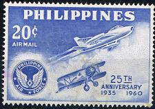 Philippines Aviation Airforce 25 Ann stamp 1960 MLH