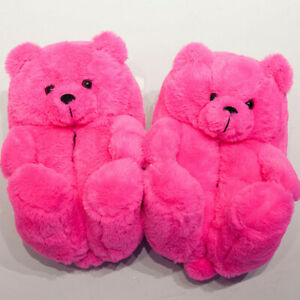 Teddy Bear House Slippers Women Home Indoor Soft Anti-slip Cute Slippers