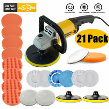 "5"" 7"" 1200W Car Polisher Buffer Buffing Sponge Pad Bonnets Kit Polishing Machine"