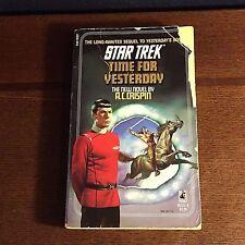 Star Trek TIME FOR YESTERDAY paperback Pocket Books #39 A. C. Crispin pb novel