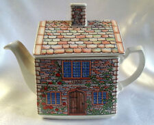 "Sadler Teapot English Country Houses 17th Century Cottage Ceramic 6"" x 7.75"""